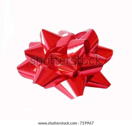 isolated red bow on white background