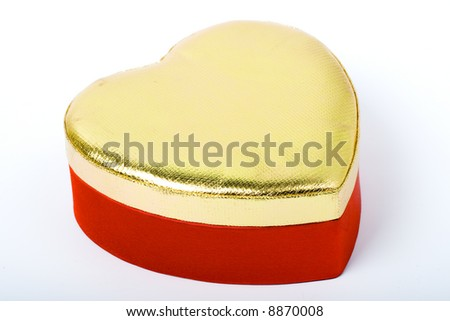 isolated red box with gold cover