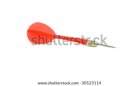isolated red dart on white
