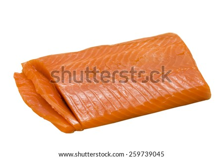 isolated red fish on white background