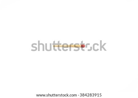 Isolated red match stick on white background