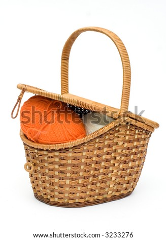 isolated retro basket