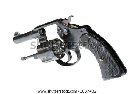 Isolated revolver - stock photo