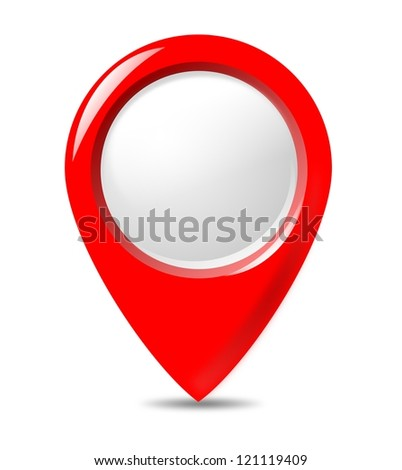 Isolated round button. - stock photo