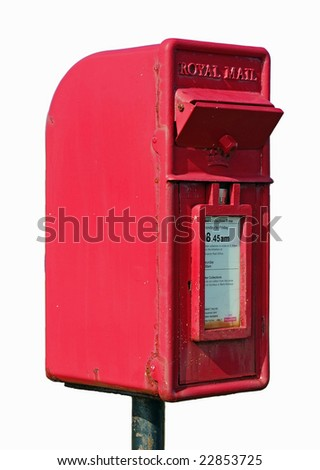 Isolated Royal Mail Postbox