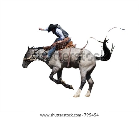 Isolated Saddle Bronc with clipping path
