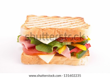 isolated sandwich