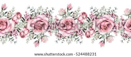 Vintage Floral Border Stock Images Royalty Free Images