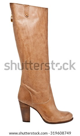 Isolated shoes brown boot - stock photo