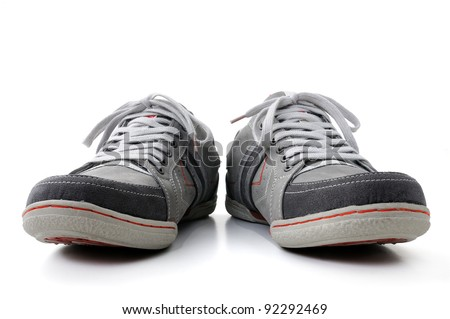 isolated shoes on white background