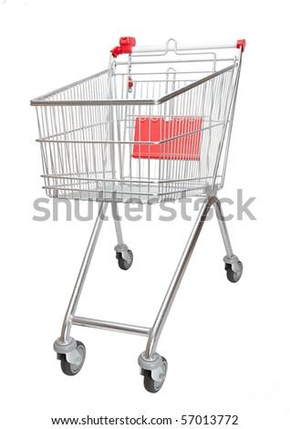Isolated shopping Cart - stock photo