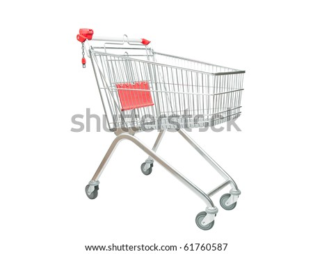 Isolated shopping Cart - stock photo