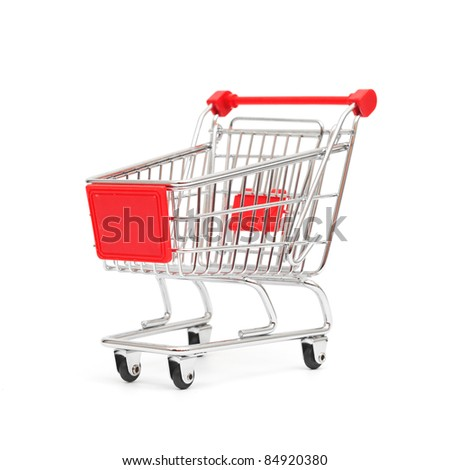 isolated shopping cart isolated on the white