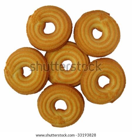 isolated shortcakes - stock photo