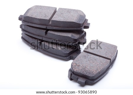 Isolated shot of disk brake parts for a Korean Car - stock photo