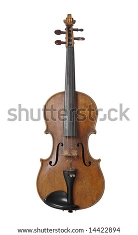 Isolated shot of fiddle - stock photo