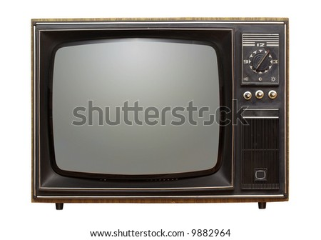 isolated shot of old russian tv-set