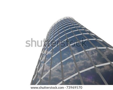 Isolated skyscraper - stock photo