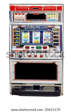 isolated slot machine - stock photo