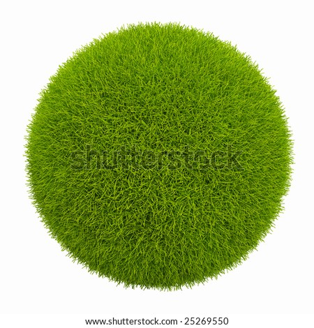 Isolated small green planet. 3D Rendering - stock photo