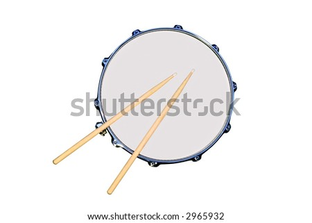 Isolated snare drum - stock photo