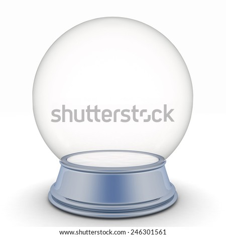 Isolated snow ball - stock photo