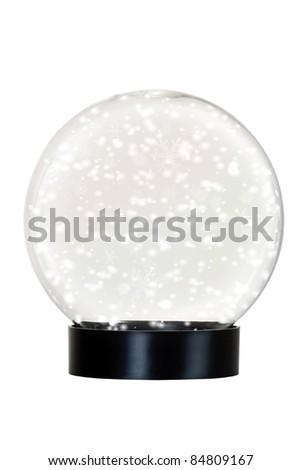 Isolated snow globe - stock photo