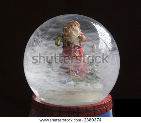 Isolated snowglobe - stock photo