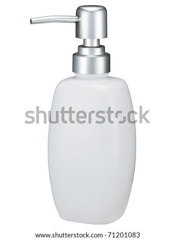 Isolated soap dispenser - stock photo