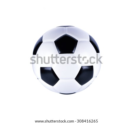 isolated soccer ball  - stock photo