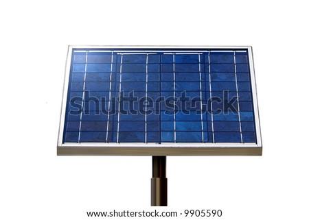 isolated solar panel - stock photo