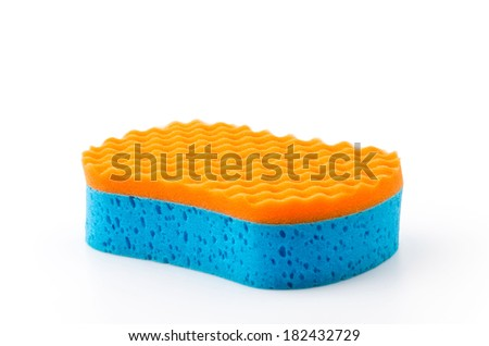 Isolated sponge - stock photo