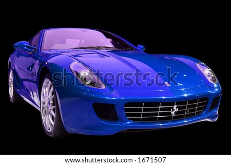 Isolated sports car - stock photo