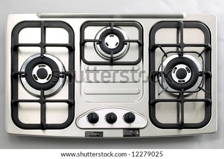 Isolated Stainless Steel Gas Burner 3 - stock photo