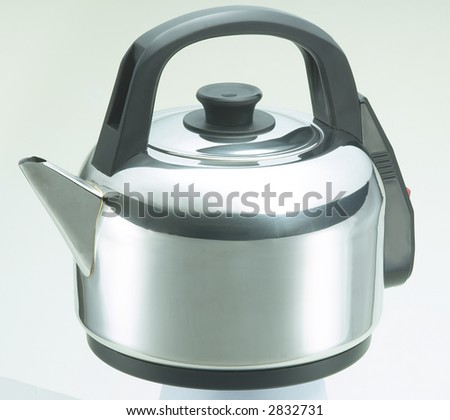 Isolated Stainless Steel Kettle 2 - stock photo