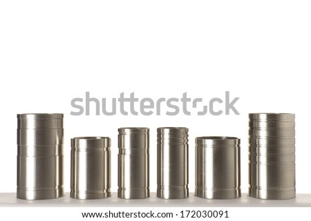 isolated stainless steel pipes - stock photo