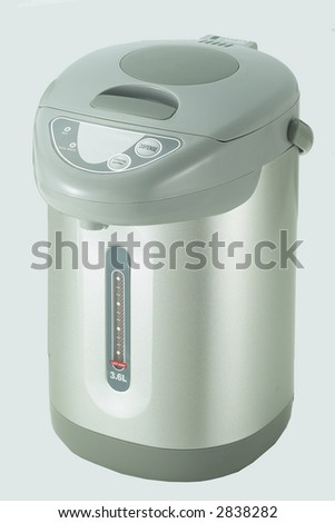 Isolated Stainless Steel Thermo Pot 1 - stock photo