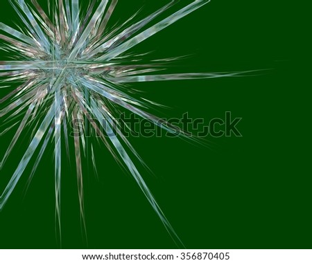 Isolated Star on Green - stock photo