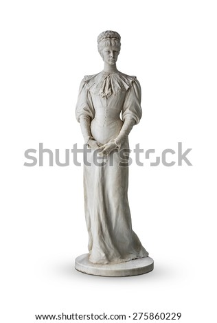 Isolated statue of Empress Elisabeth II from Austria in Corfu at the Achilleion - stock photo