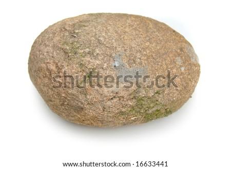 isolated stone - stock photo