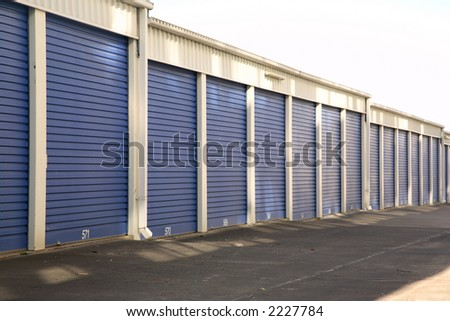 isolated storage rooms with white background