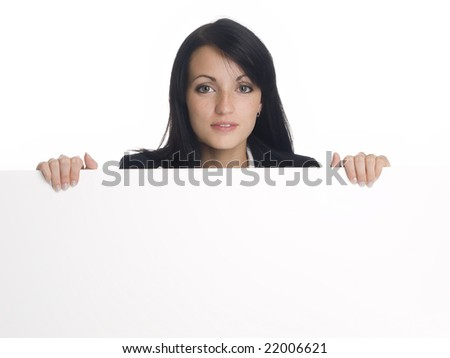 Isolated studio shot of a businesswoman