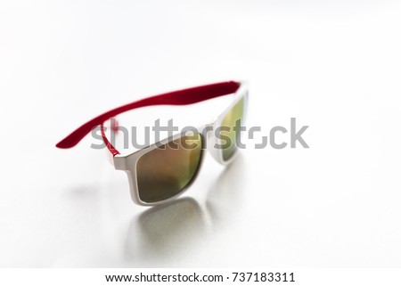 Isolated summer sunglasses on white background