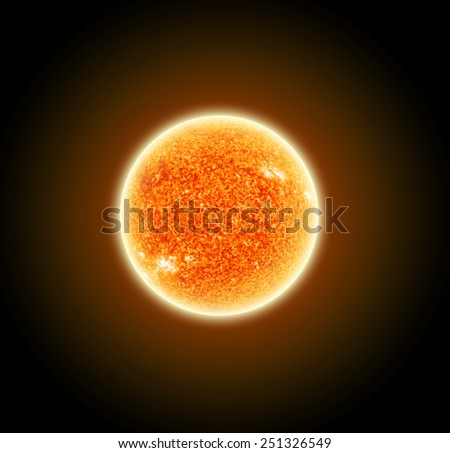 Isolated Sun - Elements of this Image Furnished by NASA - stock photo