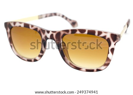 Isolated Sun glasses on a white background. - stock photo