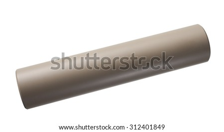 Isolated suppressor for a rifle that is tan in color