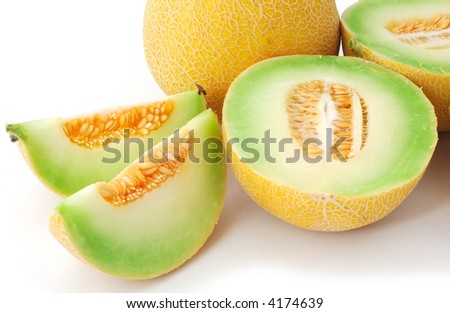 isolated sweet melons