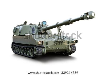 isolated tank 2 - stock photo