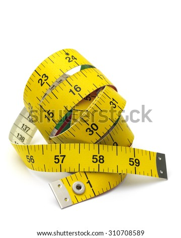 Isolated Tape Measure - stock photo
