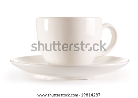 Isolated tea cup - stock photo
